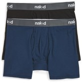 Naked Men's Essential 2-Pack Stretch Cotton Boxer Briefs