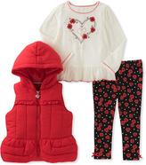 Kids Headquarters Red Puffer Vest Set - Infant, Toddler & Girls