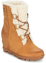 Sorel JOAN OF ARCTICWEDGE II SHEARLING women's Mid Boots in Brown
