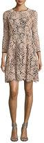Nanette Lepore 3/4-Sleeve Lace Swing Dress