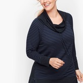 Talbots Mixed Stripe Cowlneck Pullover