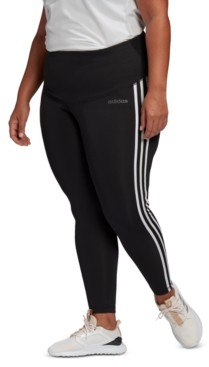 adidas Plus Size Design 2 Move 3 Stripe High-Rise Leggings