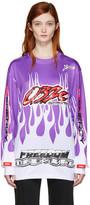 032c Purple Motocross Flame T-Shirt