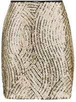 Topshop Psych swirl sequin mini skirt
