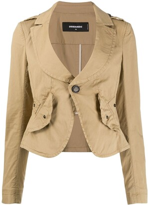 DSQUARED2 Fitted Scoop Neck Jacket