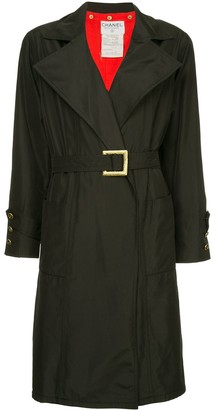 Chanel Pre Owned Wide Lapels Midi Coat