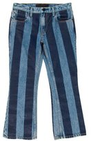 Alexander Wang Striped Cropped Jeans