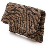 Moyna Beaded Zebra Clutch