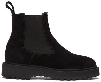 Diemme Black Suede Alberone Chelsea Boots
