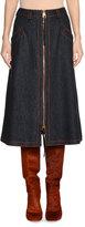 Agnona A-Line Denim Midi Skirt