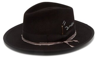 Nick Fouquet Violet Smoke Felt Fedora - Mens - Black