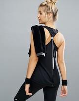 Elle Sport Tie Back Detail Gym Tank