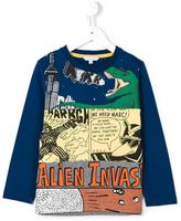 Little Marc Jacobs comic book print T-shirt