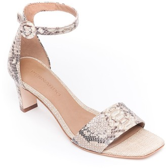 Bernardo Leather Mid-Heel Sandals - Cameron