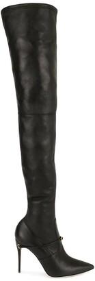 Jennifer Chamandi thigh-high removable-strap boots