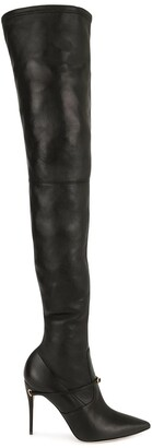 Jennifer Chamandi Thigh-High Removable-Strap Boots