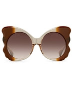 Matthew Williamson Mocha Brown Butterfly Sunglasses