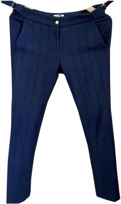 Roseanna Blue Wool Trousers