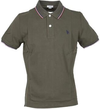 U.S. Polo Assn. Military Green Pique Cotton Men's Polo Shirt