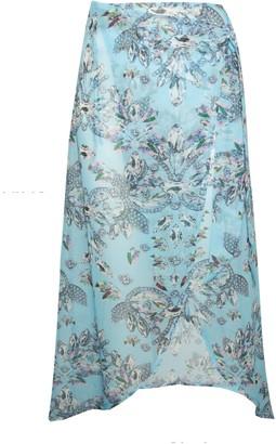 New Look Wolf & Whistle Jewel Print Midi Beach Skirt