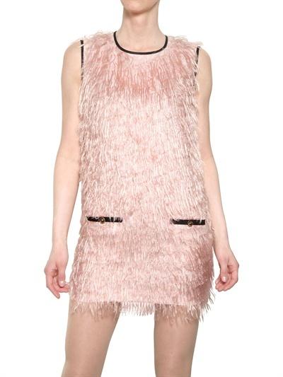 MSGM Techno Cotton Fil Coupé Dress