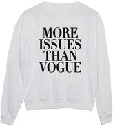 CFD Womens Crew Neck Solid Letter Printed Pullover Sweatshirts M