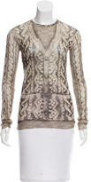 Jean Paul Gaultier Abstract Print Mesh Top