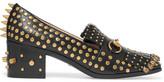 Gucci Horsebit-detailed Fringed Embellished Leather Loafers - Black