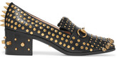 Gucci Horsebit-detailed Fringed Embellished Leather Loafers - IT37