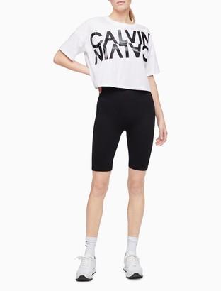Calvin Klein Performance Mirror Logo Cropped T-Shirt