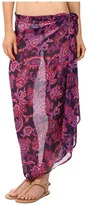 Tommy Bahama Jacobean Floral Pareo Cover-Up with Beaded Tassels