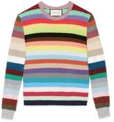 Gucci Cashmere and merino stripe knitted top