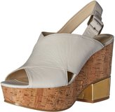 Nine West Women's Imena Leather Wedge Sandal