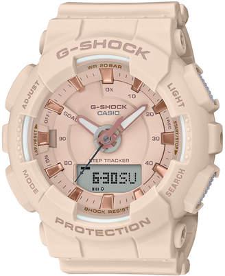 G-Shock Women Analog-Digital Step Tracker Pink Resin Strap Watch 49.5mm
