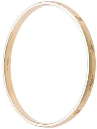 Marchesa 18kt Yellow Gold Star Diamond Bangle