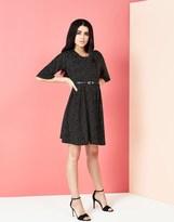 Yumi Polka Dot Pleated Dress