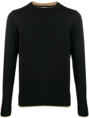 Emporio Armani intarsia knit detail jumper
