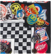 DSQUARED2 chessboard and patch print scarf - men - Silk/Cotton - One Size