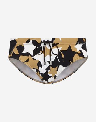 Dolce & Gabbana Swimming Briefs With Star Print