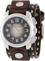 Nemesis Unisex 091KDTB Elegant Gradient Design Leather Band Watch