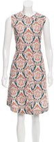 Carven Abstract Printed A-Line Dress