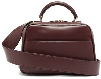 Valextra Serie S Small Smooth-leather Shoulder Bag - Burgundy