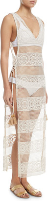 Pilyq Joy Lace Long Coverup w/ Tie Sides
