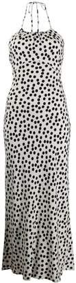 Rixo polka dot print dress