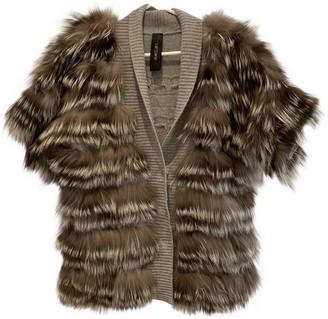 Marc Cain Grey Raccoon Jacket for Women