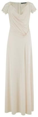 Dorothy Perkins Womens Little Mistress Cream Cowl Neck Jersey Maxi Dress, Cream