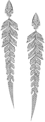 Stephen Webster Magnipheasant Diamond Pave Earrings in 18k White Gold