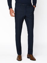 Jeff Banks Jeff Banks Jaspe Check Ivy League Suit Trousers In Slim Fit - Blue