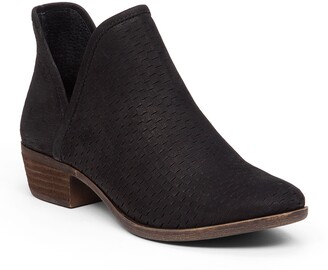 Lucky Brand Baley Perforated Suede Bootie - Wide Width Available