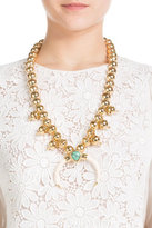 Aurelie Bidermann 18kt Gold Plated Necklace with Turquoise and Horn